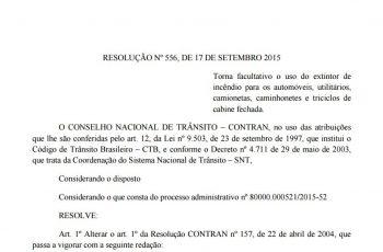 Resolução nº 556, de 17 de Setembro 2015